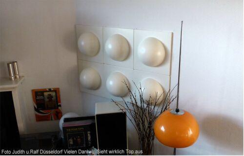 4 Bubble Elemente 70er 60er Style POP ART Wand Bilder Bild Weiß NR 1