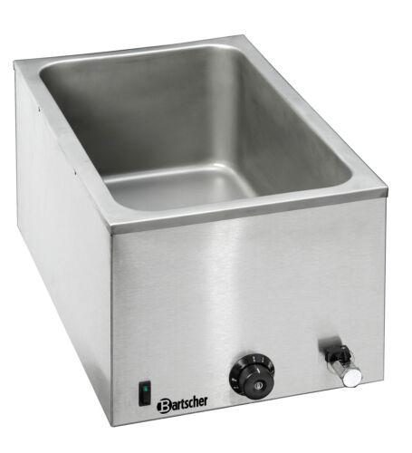 Bain Marie1//1 Edelstahl Tiefe 200 mm Wasserablaßhahn Gastro Bartscher 200207