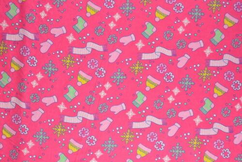 Pink Winter Warmth Flannelette Fabric 108cm Wide per metre