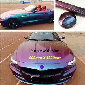 Blue-purple Chameleon Vinyl Film Wrap Color Changing Car SUV Sticker Body Decals