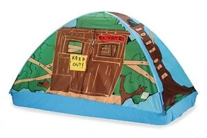Image is loading Pacific-Play-Tents-TREE-HOUSE-BED-TENT-77-  sc 1 st  eBay & Pacific Play Tents TREE HOUSE BED TENT - 77 IN X 38 IN X 35 IN ...