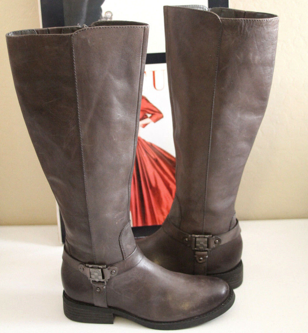 75 VINCE CAMUTO FARREN DISTRESSED BROWN KNEE HIGH BOOTS    SZ 5.5       MSRP