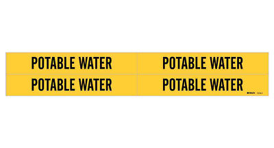 BRADY 7203-3C Pipe Marker,Non-Potable Water,Y,to3//4 In