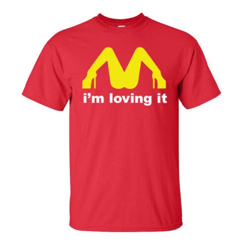 I/'m Loving it T-Shirt Funny Joke Present Fancy Dress Adults /& Kids Sizes