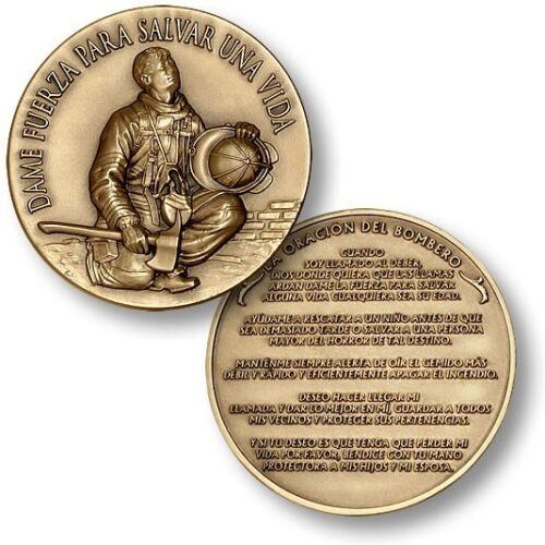 Fireman/'s Prayer in Spanish Challenge Coin La Oración del Bombero Fire Firemen