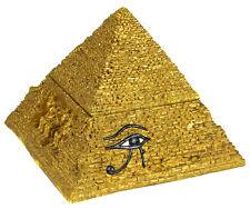 New Egyptian Treasures Pyramid Jewelry Trinket Box Felt Lined 4'' Tall 68933