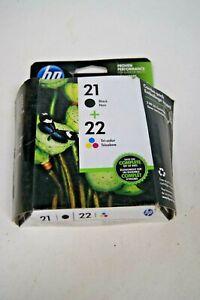 Genuine-New-HP-21-amp-22-Ink-Set-C9509FN-Expired-2019