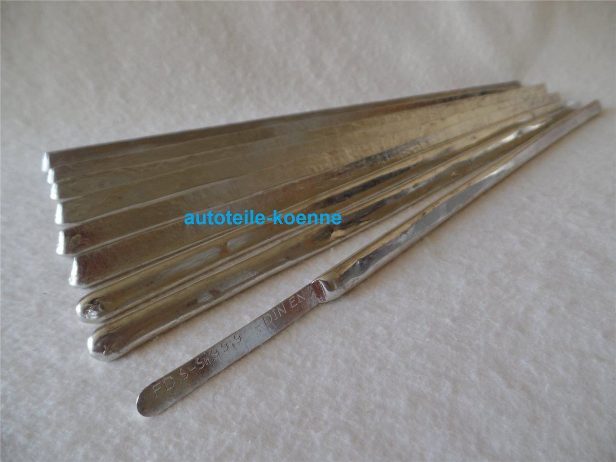 9 Stangen Lötzinn S-Sn99,9, 99% Zinn Elektronikbereich Verzinnen Modellgießen