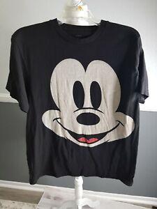 Mickey Mouse Face Big Print Disney Subway T-Shirt Size Large G46