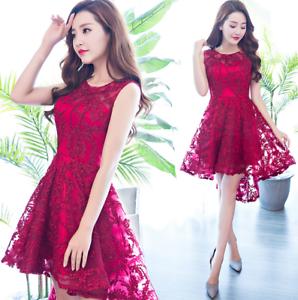 Women/'s Embroidery Sleeveless A Line Tutu Dress Slim Short Prom Ball Gown Skirts