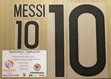2016 MESSI Copa America Centenario Argentina #10 Name/Number Player size