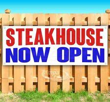 Steakhouse Now Open Advertising Vinyl Banner Flag Sign Many Sizes