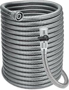 Morvat Stainless Steel Garden Hose 3 ft Hose Reel Leader Hose Short Connector