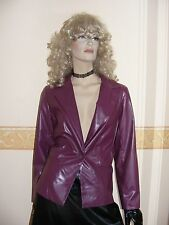 PURPLE PVC JACKET / COAT SIZE 14