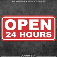 Open 24 Hours Sticker Decal Business Window Store Label Vinyl Weatherproof 3m