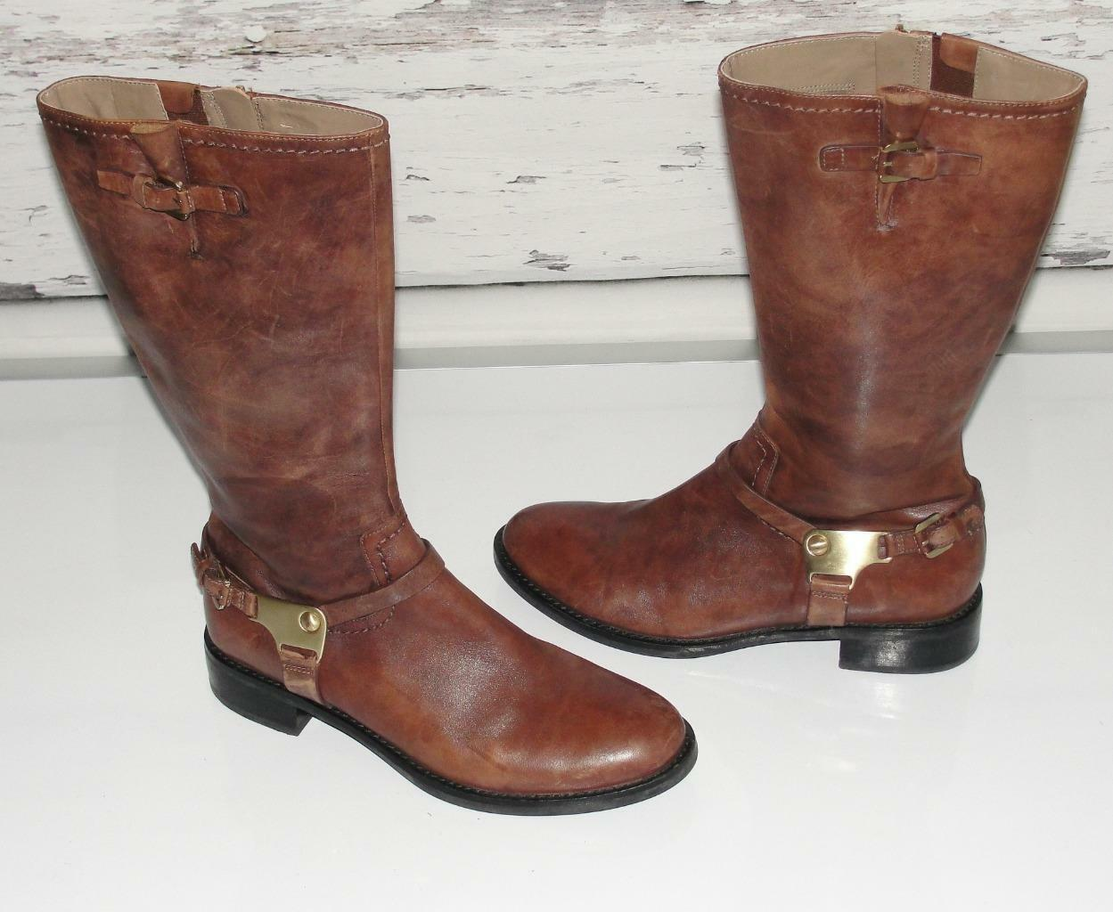 ECCOLEATHER HOBART TALL HARNESS BOOT EQUESTRIAN RIDING FLAT BOOTS39