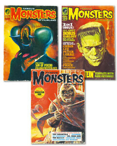 Famous-Monsters-Creatures-Fine-Art-Print-Set-Frankenstein-King-Kong-The-Fly