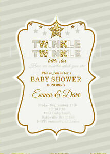 graphic regarding Free Printable Twinkle Twinkle Little Star Baby Shower Invitations identified as Data above Twinkle Twinkle Tiny Star Boy or girl Shower Invitation