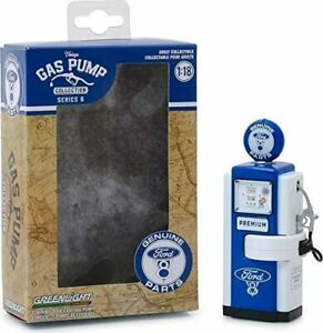 GREENLIGHT-14060A-14060C-Vintage-Petrol-Gas-Pumps-FORD-GENUINE-PARTS-MOPAR-1-18