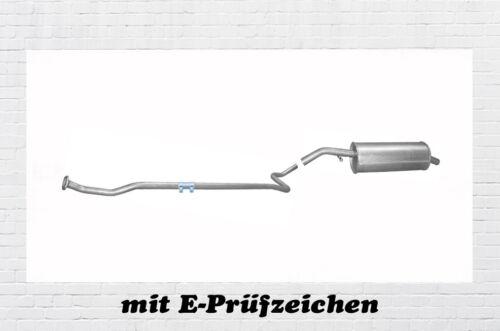 Citroen C3 I 1.1 44KW Auspuffanlage Auspuff Endtopf Mittelrohr