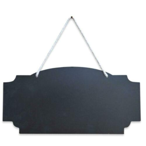 Erasable Hanging Chalkboard Sign Display Board 12 Inch Wide Blackboard