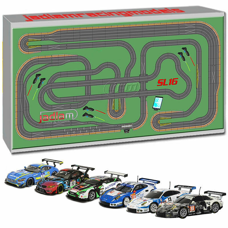 SCALEXTRIC Digital Bundle SL16 ARC PRO JadlamRacing Layout with 6 Cars