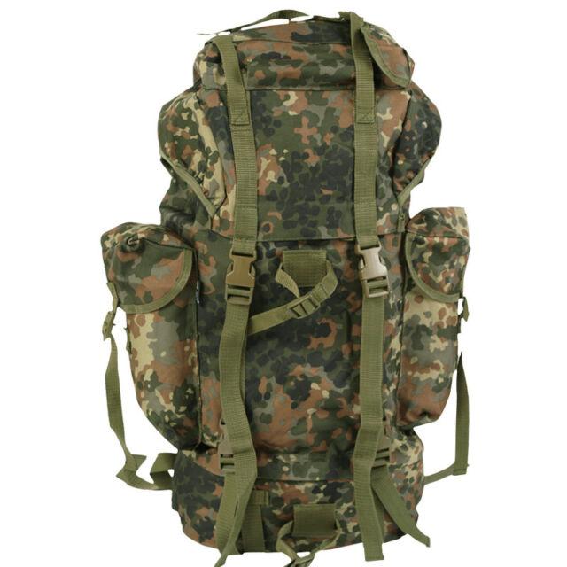 ce1ef2d1c5b3 Military Backpack Combat Rucksack Hiking Camping Travel BW Army Flecktarn  Camo