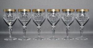 Theresienthal-6er-Satz-Weinglaeser-Kristall-Goldrand-Handarbeit-16-0-cm