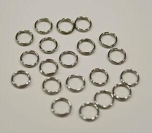50-Anneaux-double-de-jonction-argente-7mm-Creation-bijoux-colier-7-mm