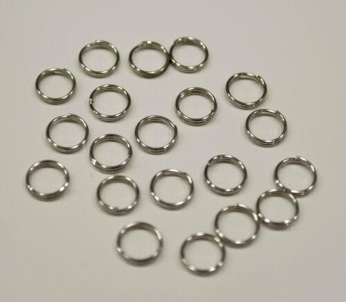 ... 50 Anneaux double de jonction argenté 7mm colier 7 mm Creation bijoux