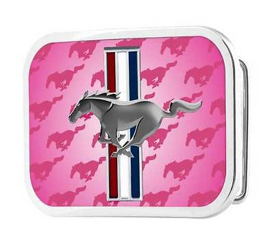 Pink Ford Mustang 'Rock Star' Belt Buckle - fits most belt straps cool gift