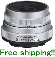 PENTAX Q(7) 04 TOY LENS WIDE Q MOUNT 22097 LENS SILVER BRAND NEW FREE SHIPPING!!