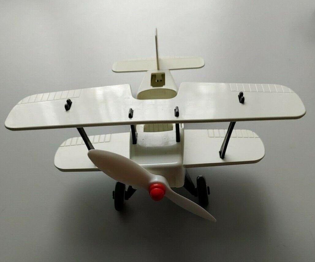 Playmobil Farbe altes Doppeldecker Flugzeug 3676 unbemalt sehr selten