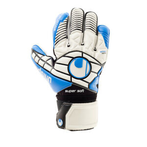 uhlsport Eliminator Supersoft Torwarthandschuhe wei?/schwarz/blau