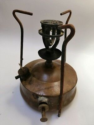 Antique 1950's Old Stamped Copper Brass Portugal Rechaud Stove Hipolito # 2 Decorative Arts Lamps
