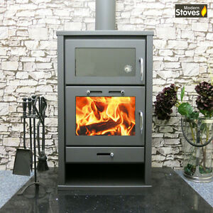 Details About Stove Cooker Combination Wood Burning Multifuel Oven Triumph 20kw Max Output