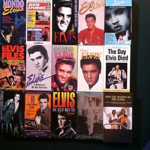 Elvis Presley VHS Lot of 16 tapes - The Echo Will Never Die - One Night With You