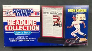 DEION SANDERS Atlanta Braves Starting Lineup SLU 1993 Headline Collection