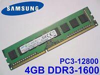 4GB DDR3-1600 PC3-12800 1600Mhz SAMSUNG M378B5173BH0-CK0 PC DESKTOP RAM SPEICHER