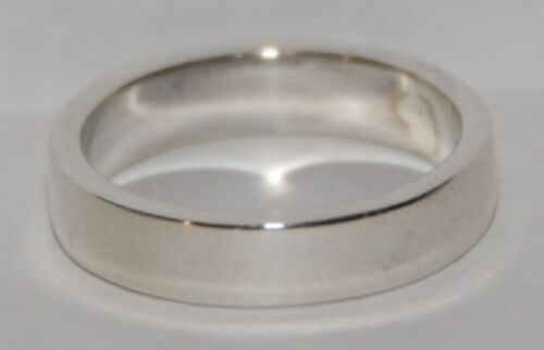 12 10 Sterling Silver 4mm Plain Ring SZ 6 13  S622 11 7 9