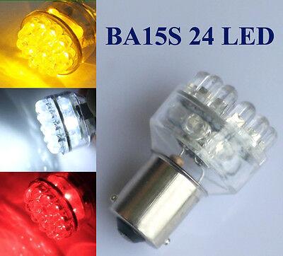 2 Car 24 White/Red/Amber LED 1156 Tail light P21W BA15S REAR/BRAKE/ FOG/ REVERSE