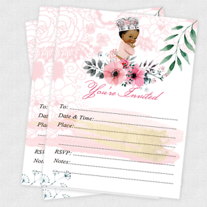 Baby Shower Invitation Girl Princess Birthday Invitation 1st