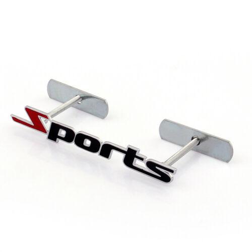3D Metal Front Grille Grill Badge Emblem Decals Hood Car Sports Black K t1.
