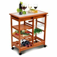 Rolling Kitchen Trolley Cart With Wine Rack /Wooden kitchen cart City of Toronto Toronto (GTA) Preview