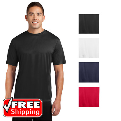 6 Pack Short Sleeve Performance T-Shirt Moisture Wicking Mens Dri-Fit Tee PC380