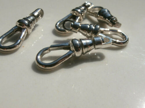 Swivel Clip Clasp Hook Finding 2 or 5 Silver Plated Approx.1inch long 25x8mm