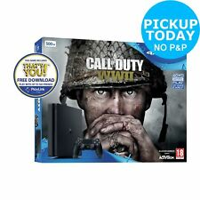Sony PlayStation PS4 500GB Call of Duty: WWII & That's You Console Bundle Black