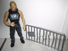 WWF WWE Kevin Nash Wrestling Figure 2002 w/NWO fence piece
