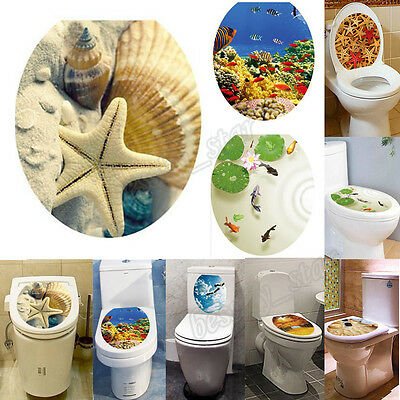 DIY Toilet Seat Wall Sticker Decals Vinyl Art Paper Removable Bathroom Decor HOT
