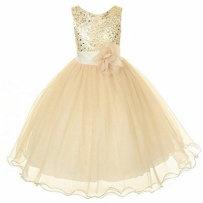 2015 New Fashion Pageant Lace Baby Princess Bridesmaid Party Flower Girl Dresses